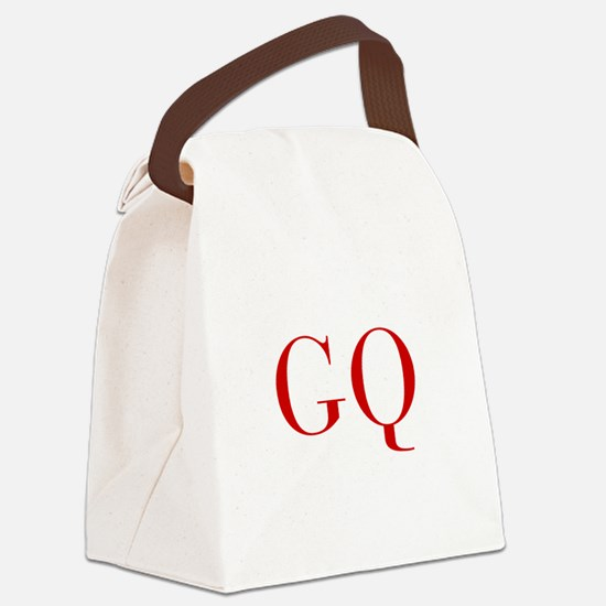 GQ-bod red2 Canvas Lunch Bag
