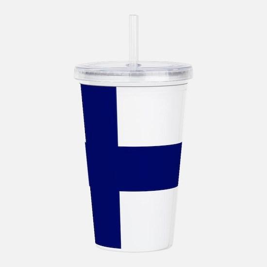 Finland flag Acrylic Double-wall Tumbler