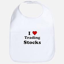 I Heart Trading Stocks Bib