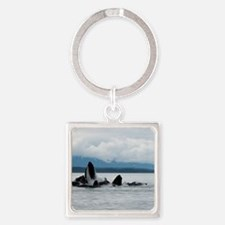 Alaskan Whale Square Keychain