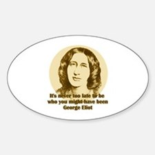 George Eliot Quote Oval Decal