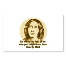 George Eliot Quote Rectangle Decal