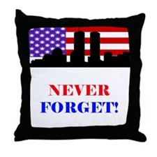 9-11: Never Forget Throw Pillow