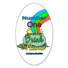 NUMBER 1 IRISH NANA Oval Decal