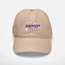 Airman's Baby Girl Pink with Baseball Baseball Cap