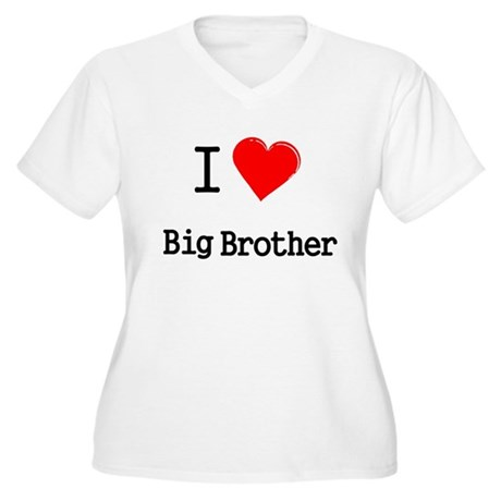 I heart big brother Women's Plus Size V-Neck T-Shi