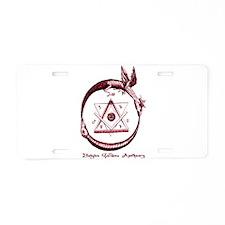 Alchemical Ouroboros Aluminum License Plate