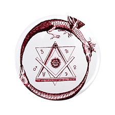 """Alchemical Ouroboros 3.5"""" Button"""