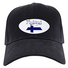 Finnish flag ribbon Baseball Hat