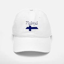 Finnish flag ribbon Baseball Baseball Cap