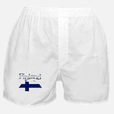 Finnish flag ribbon Boxer Shorts