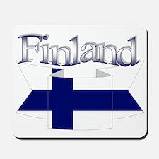 Finnish flag ribbon Mousepad