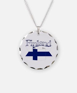 Finnish flag ribbon Necklace
