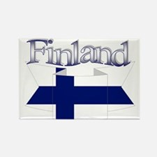 Finnish flag ribbon Rectangle Magnet