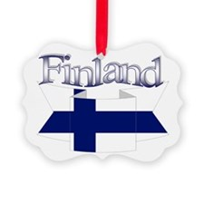 Finnish flag ribbon Ornament