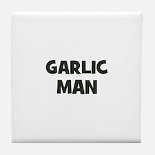 garlic man Tile Coaster