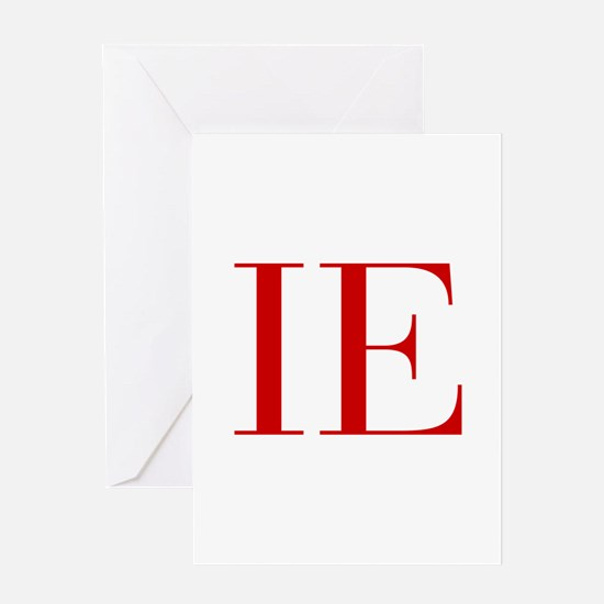 IE-bod red2 Greeting Cards