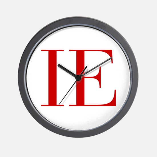 IE-bod red2 Wall Clock