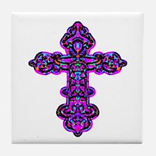 Ornate Cross Tile Coaster
