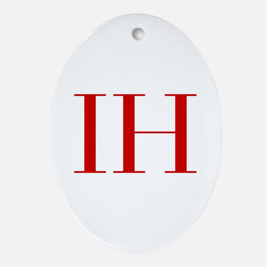 IH-bod red2 Ornament (Oval)