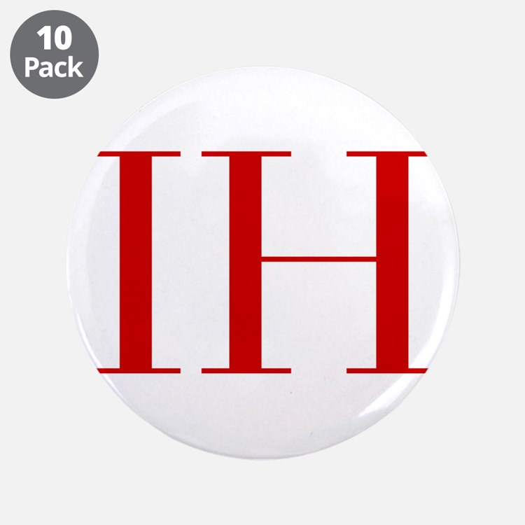 """IH-bod red2 3.5"""" Button (10 pack)"""
