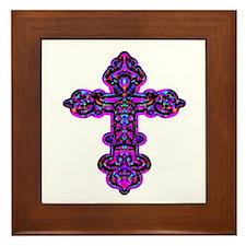 Ornate Cross Framed Tile