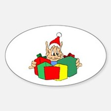 Santa's Elf Oval Decal