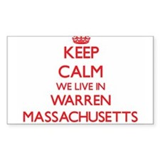 Keep calm we live in Warren Massachusetts Decal