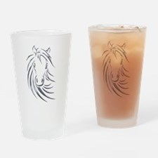 Silver Design Horse Head Drinking Glass