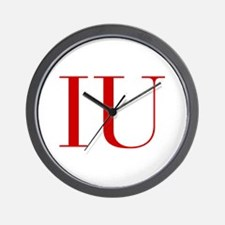 IU-bod red2 Wall Clock