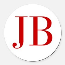 JB-bod red2 Round Car Magnet