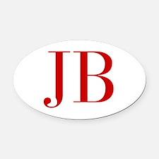 JB-bod red2 Oval Car Magnet