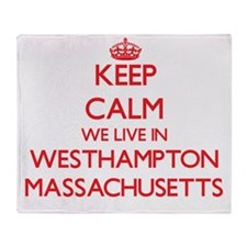 Keep calm we live in Westhampton Mas Throw Blanket