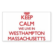 Keep calm we live in Westhampton Massachus Decal