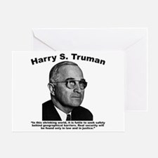 Truman: Security Greeting Card