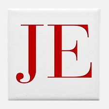 JE-bod red2 Tile Coaster