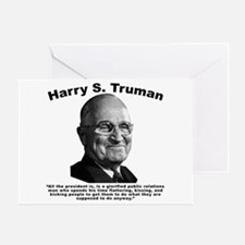 Truman: President Greeting Card