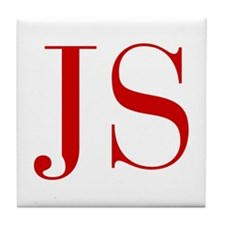 JS-bod red2 Tile Coaster