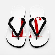 JT-bod red2 Flip Flops