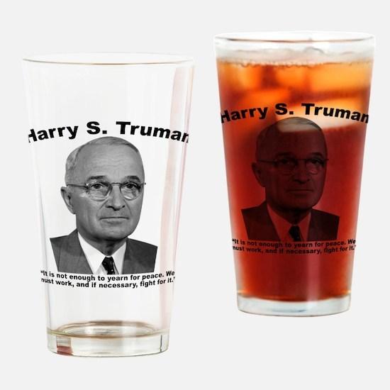 Truman: Peace Drinking Glass