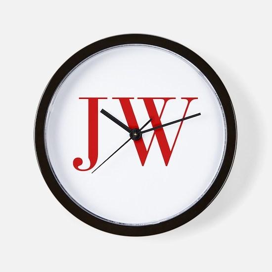 JW-bod red2 Wall Clock