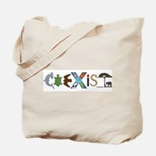Coexist with Animals Tote Bag