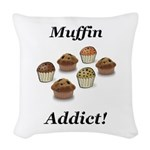 Muffin Addict Woven Throw Pillow