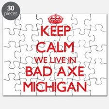 Keep calm we live in Bad Axe Michigan Puzzle