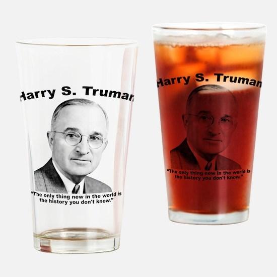 Truman: History Drinking Glass