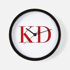 KD-bod red2 Wall Clock