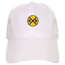 Railroad Crossing Baseball Baseball Cap