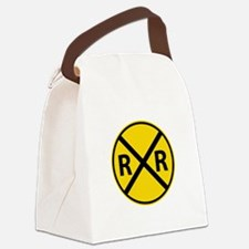 Railroad Crossing Canvas Lunch Bag