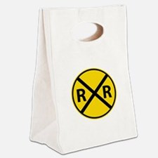 Railroad Crossing Canvas Lunch Tote