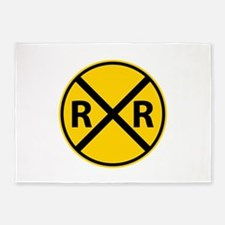 Railroad Crossing 5'x7'Area Rug